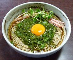 First turnip Soba (めかぶ蕎麦)