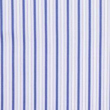 Italian True Blue and White Cotton Shirting