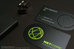 Black Metal Business Cards | RockDesign Luxury Business Card Printing