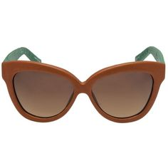 LINDA FARROW LUXE Oversized cat eye sunglasses ($695) ❤ liked on Polyvore