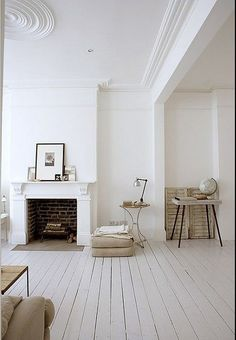 white wooden floors by Lautall, period property