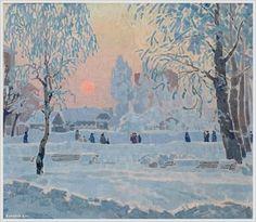 Александр Безумов (1926-1982) морозное утро 1971