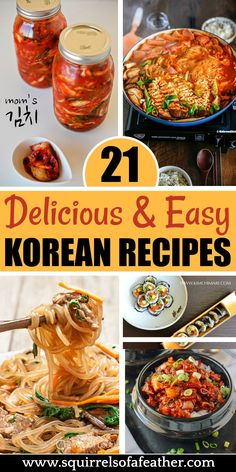 20 Tasty Korean Recipes That Anyone Can Make at Home Yum! If you love Asian food and spice, these Korean recipes are the best! Great dinner ideas, but there are also Korean side dishes (like kimchi) and even sweet desserts! Korean Side Dishes, Bulgogi, Easy Korean Recipes, Asian Dinner Recipes, Asian Food Recipes, Ramen Recipes, Japanese Recipes, Asian Foods, Japanese Food