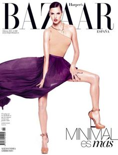Alessandra Ambrosio for Harper's Bazaar Spain February 2011