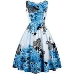 OTEN vintage womens clothing casual summer elegant ladies sleeveless floral print midi dresses vestido pin up vintage rockabilly