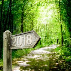 CARTE VOEUX 2018 - Natural Way Outdoor Decor, Plants, Invitation, Peace, Happy New Year Wishes, Greeting Card, Map Pictures, Planters, Invitations