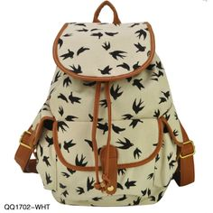 2013 New Arrival Animal Print 3 Colors Charming Backpack For Girl School Rucksack Shoulder Bags Promotion Free Shipping QQ1702 in Aliexpress $23,50