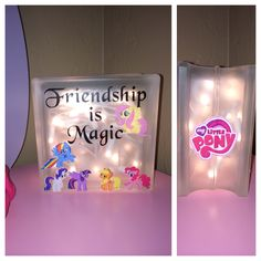 My Little Pony light up glass box. It made a great night light for our daughter.