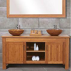 Doppelwaschtisch holz  rustikales Bad holz waschtisch spiegelrahmen schabby | Badezimmer ...