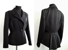 Max Mara Pianoforte peplum jacket by ladybakelite on Etsy