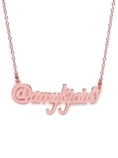 Cute Twitter Plate Necklace $88  #geekette #accessory