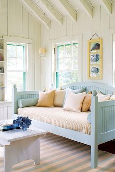 "Make any home feel like a beach cottage brimming with coastal charm. Read more in our April 2014 feature, ""Find Your Maine Style."" Photo by James R. Salomon. #Coastalcottage"