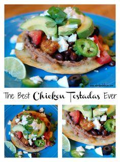 The Best Chicken Tostadas Ever.