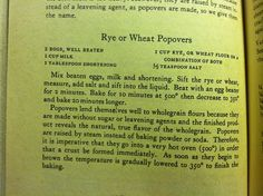 Rye popovers