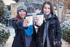 Madison DeVor - Brooke Sauls - Lone Star High School - McKinney North High School - Winter- #seniorpics - The Shops at Legacy - Senior Portraits - Class of 2015 - Snow Day - Senior Pictures - Snow - Coffee - Coats and Hats - #theshops - Tyler R. Brown Photography