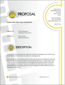 View expression of interest for mining sample proposal sample movie pitch sample proposal the movie pitch sample proposal is an example of a company owing the rights to a movie pitching it to potential investors altavistaventures Gallery