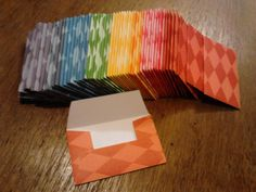 10 Gift Card Envelopes  Harlequin  Assorted Colors by KDugasCrafts, $4.00