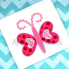 Machine Embroidery Design Applique Butterfly Heart by tmmdesigns