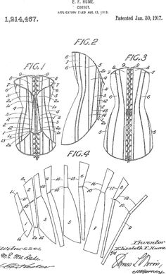 Corset patent 1917