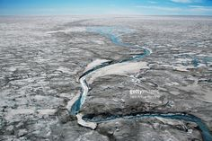 Stock-Foto : Glacial rill on Greenland's ice sheet, near Nordlit Sermiat, Greenland