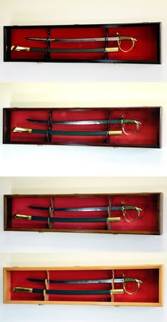 Shadow Boxes 41512: 1 Sword Display Case Cabinet Stand Holder Wall Rack Box 98% Uv Lockable -> BUY IT NOW ONLY: $89.95 on eBay!