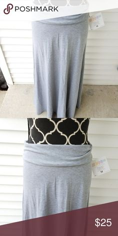 NWT Solid Grey LuLaRoe Maxi Skirt sz M -New w/ tags -Size M -Cotton material  Check out my other listings :) Bundle & save!!! LuLaRoe Skirts Maxi