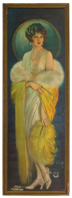 Selz Good Shoes Lady - 1920s - by Howard Chandler Christy - Rich Penn Auctions of Waterloo, Iowa