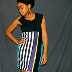 flyTie clothing ruffle bodice patchwork dress by flyTieClothing, $54.00