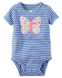 Baby Girl Striped Butterfly Bodysuit | Carters.com