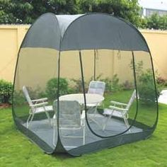 Amaze x x Ht.) Auto Pop up Folding Light Weight Portable Outdoor Camping Picnic Garden Farm House Mosquito Insect Net Screen Room with Carry Bag - Green