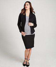 Maternity Pencil Skirt Black