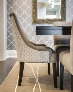 Pattern on Pattern for this stunning Dining Room.