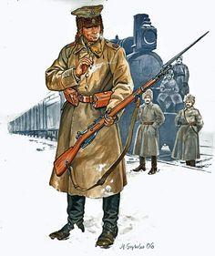Porucznik 5. Dywizji Strzelców Polskich, walczącej z bolszewikami na Syberii w latach 1918 – 1920. Część żołnierzy przedarła się nad Pacyfik, opłynęła cały glob, dotarła do Gdańska i wzięła jeszcze udział w zwycięskiej wojnie 1920 roku