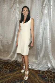 Anh Duong White short dress at the New Museum's 35th anniversary spring gala in New York.
