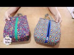 DIY - Passo a Passo Big Necessaire - YouTube Sewing Crafts, Sewing Projects, Sew Wallet, Diy Bags Purses, Diy Mode, Diy Tote Bag, Crochet Purses, Clutch, Zipper Bags