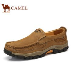 Buy now Camel Men's Shoes Spring Casual Genuine Leather Shoes Comfortable Sleeves Wear-resistant Anti-skid Matte Leather Shoes  just only $80.72 with free shipping worldwide  #menshoes Plese click on picture to see our special price for you