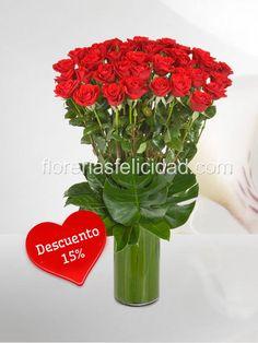 Arreglo floral con 50 lindas rosas finas.  Arreglos florales de rosas - flores a domicilio | Envio de Flores en Mexico