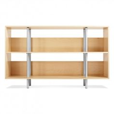 Maple Modern Wood Bookcase