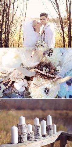 Rustic Glam Wedding Inspiration by Jennifer Bergman + PinkPolka | Style Me Pretty