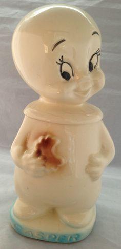 American Bisque Casper The Ghost Cookie Jar...My very favorite cartoon when I was a kid!!