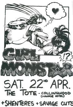 GIRL MONSTAR, all girl punk band from the 80's - Melbourne Australia.