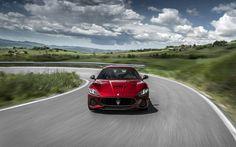 Lataa kuva 4k, Maserati GranTurismo, 2018 autoja, tie, punainen Gt, italian autot, Maserati