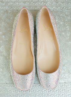 #weddingshoes #bridalshoes #weddingflats #bridalflats #christianlouboutins #louboutins #louboutin #eternalbridal http://www.stylemepretty.com/2015/05/05/elegant-countryside-wedding-in-tuscany/
