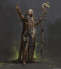 Morbid Fantasy — Barbarian Shaman by Russell Dongjun Lu Fantasy Warrior, Fantasy Rpg, Dark Fantasy Art, Fantasy Artwork, Dnd Characters, Fantasy Characters, Game Of Thrones Characters, Fictional Characters, Fantasy Inspiration