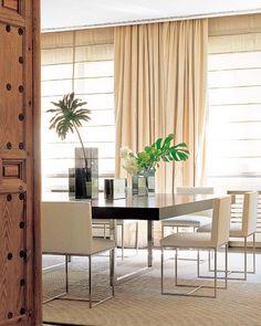 Perfect modern dining table at Nuevo Estilo via Knight Moves Warm Dining Room, Dinning Room Tables, Dining Table Design, Modern Dining Table, Dining Rooms, Dinner Room, Dining Room Inspiration, Modern Interior Design, House Design