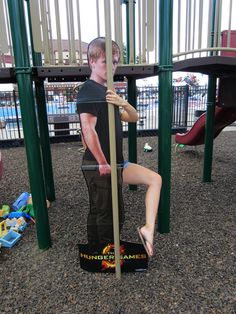 Who would bring Peeta to a park. I wish I happened upon this in real life it would have been really funny!
