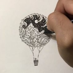 Balloon of the Midnight Story #original #art #visothkakvei