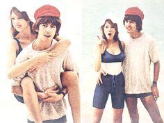 #George and Pattie #Honeymoon