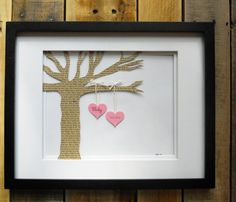 3D Wall Art for Nursery Decor. Customized w/ baby name & DOB on the hearts, and your favorite nursery rhyme printed on the tree.