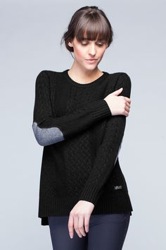 """Classic and cozy, this is the ultimate """"treat yourself"""" piece. Pairs perfectly for a date with jeans and heels, or a night in with some leggings and the girls. Cozy Sweaters, Cable Knit Sweaters, Sweaters For Women, Equestrian Chic, Equestrian Fashion, Horseback Riding Outfits, Boyfriend Sweater, Winter Fashion, Couture"""